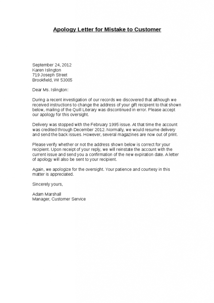 Apology Letters | Apology Letters | Pinterest | Letter sample