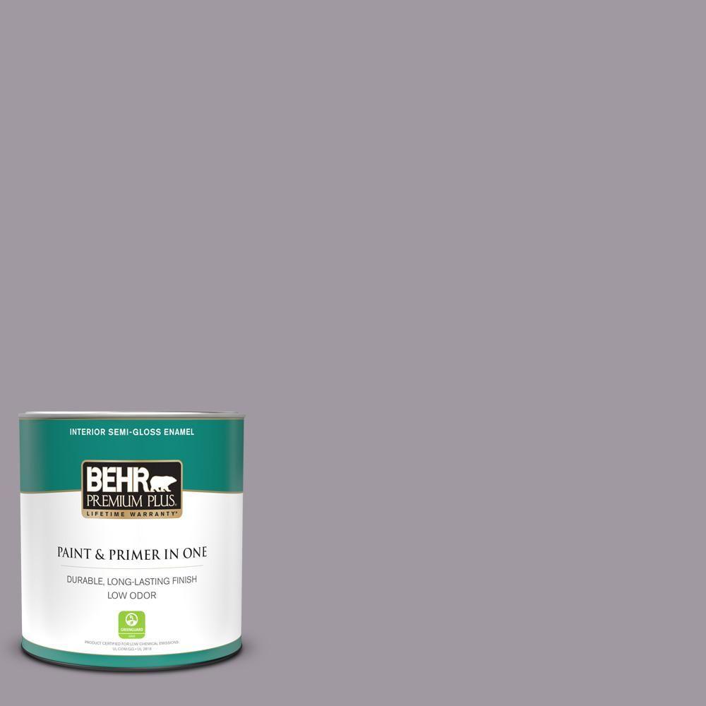 Behr Premium Plus 1 Qt N570 3 Art Nouveau Glass Semi Gloss Enamel Low Odor Interior Paint And Primer In One 340004 Behr Premium Plus Interior Paint Behr