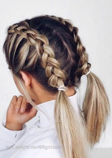 28 Braided Pigtail Braids For Short Hair You Will Love For 2019 Braided Pigtail Braids For Short H In 2020 Braids For Short Hair Easy Hairstyles Cool Braid Hairstyles