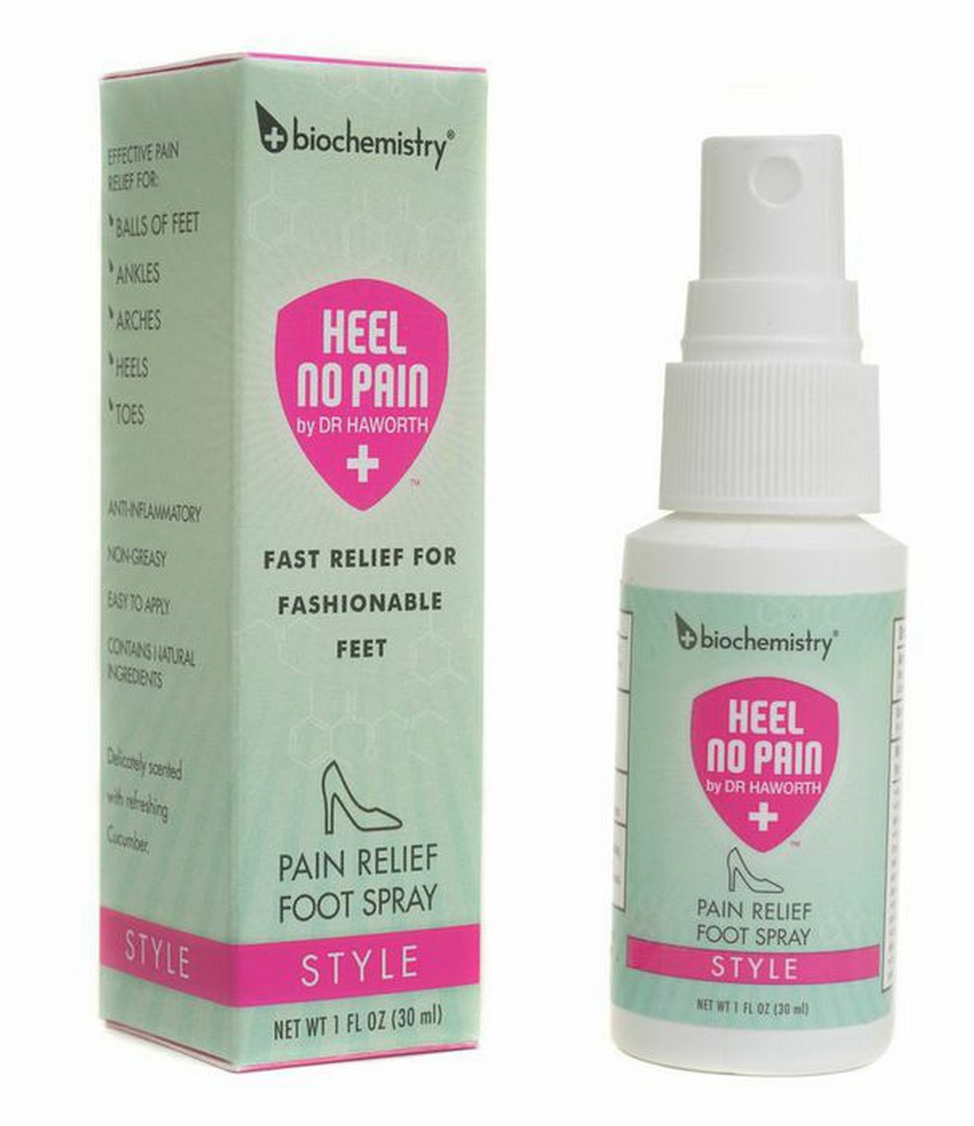The genius behind Heel No Pain / Style by Biochemistry™ is in its proprietary formula making it:  1) The only foot product to feature lidocaine hcl! 2) It works by directly numbing the nerves that transmit pain. 3) Specifically formulated to penetrate the thick skin at the bottom of the feet.  4) Able to work in minutes and last for hours!  5) Guaranteed to not stain leather or materials of fine footwear.  - See more at: http://biochemistry.la/heel-no-pain/style/#sthash.KBq2JCAk.dpuf