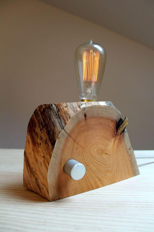 lamparas madera mesa buscar con google - Lamparas De Madera