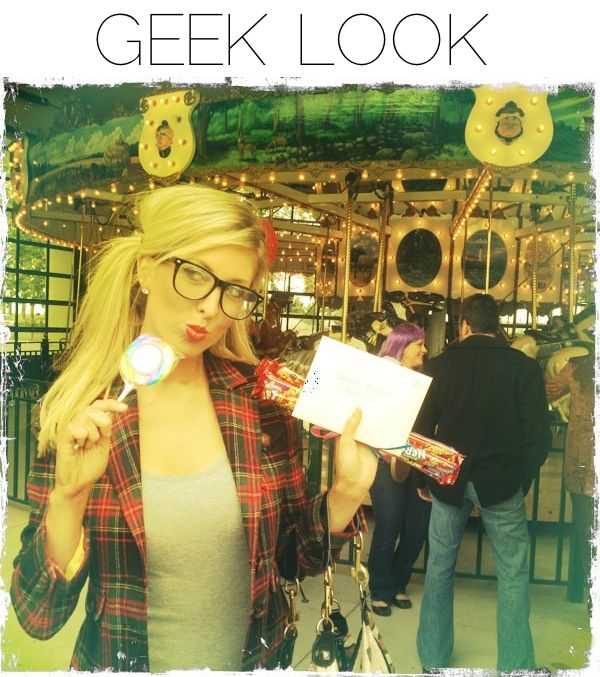 Geek Look via Blonder Ambitions {www.blonderambitions.com}