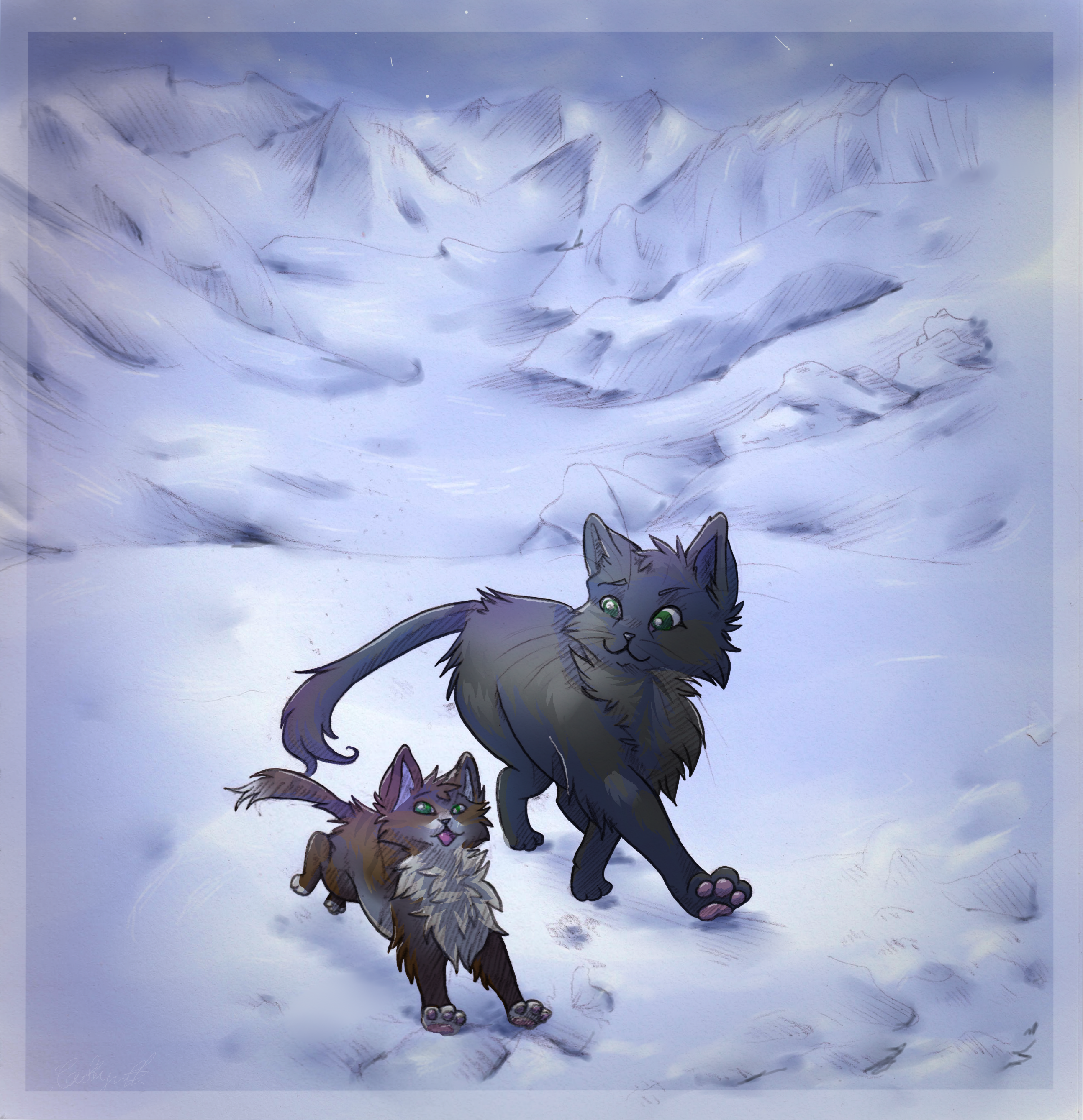 Which Dawn Of The Clans Warrior Cat Are You: Gray Wing And Jagged Peak I Think.... I'm Not Sure. Doesn