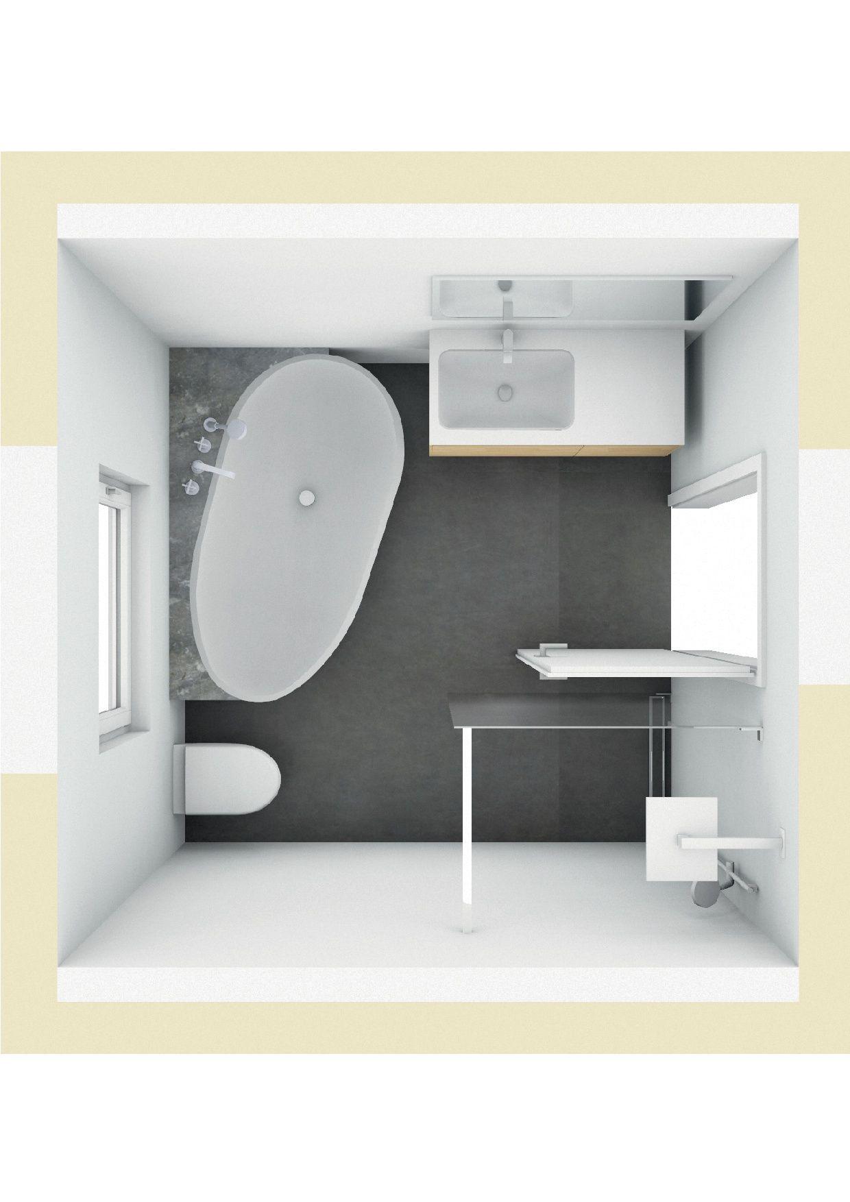 badplanung mit freisthender badewanne mit ablage | badezimmer