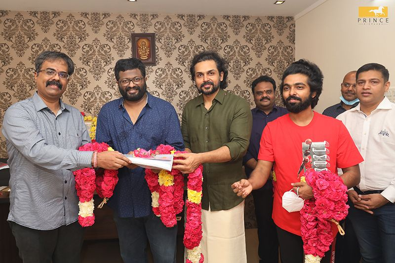 Karthi P S Mithran film commences on Deepavali with auspicious Pooja and song Recording