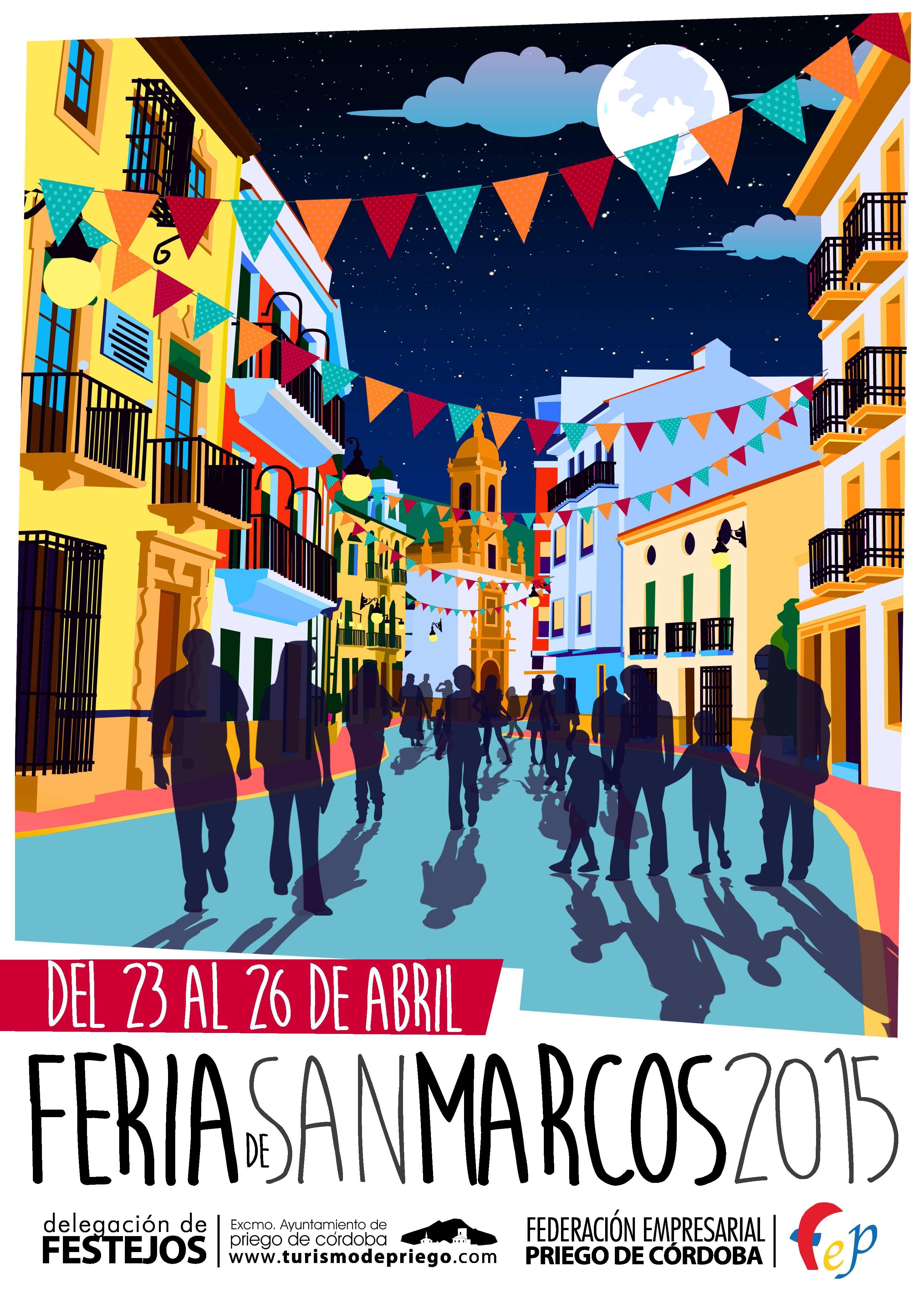 Bien!! Ya tenemos el cartel de la Feria de San Marcos de #PriegodeCórdoba. Además de esta feria, en algunos pueblos de la Subbética es tradición salir a comer al campo, acompañado de familia y amigos, ¿te apuntas?