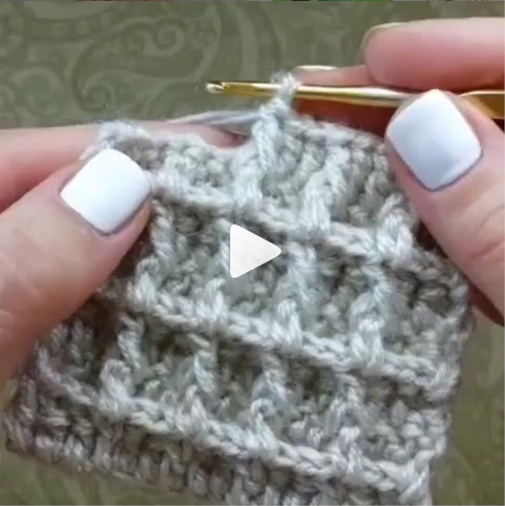 How to knit waffle stitch video tutorial #crochetstitchestutorial - historychanel #crochetstitchestutorial