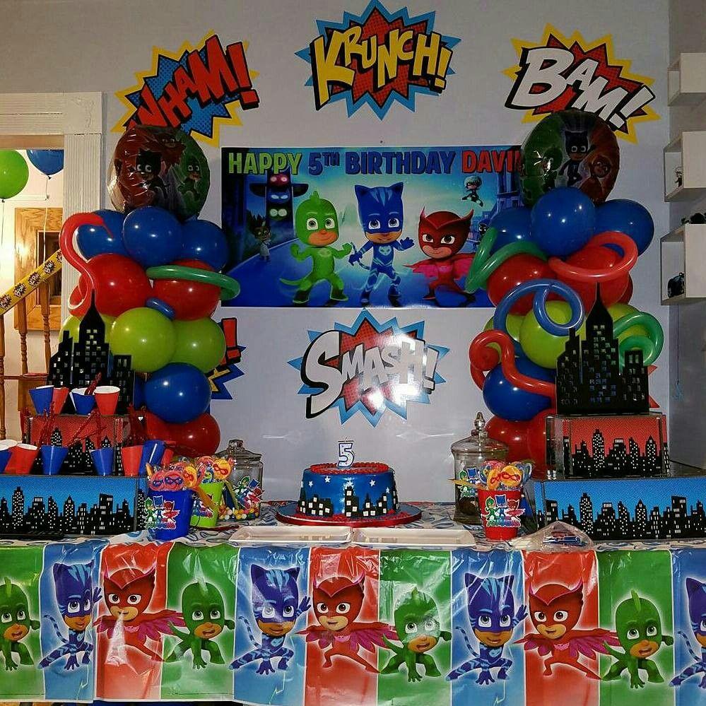 Pj masks birthday birthday party ideas pinterest - Decoracion fiesta cumpleanos infantil ...