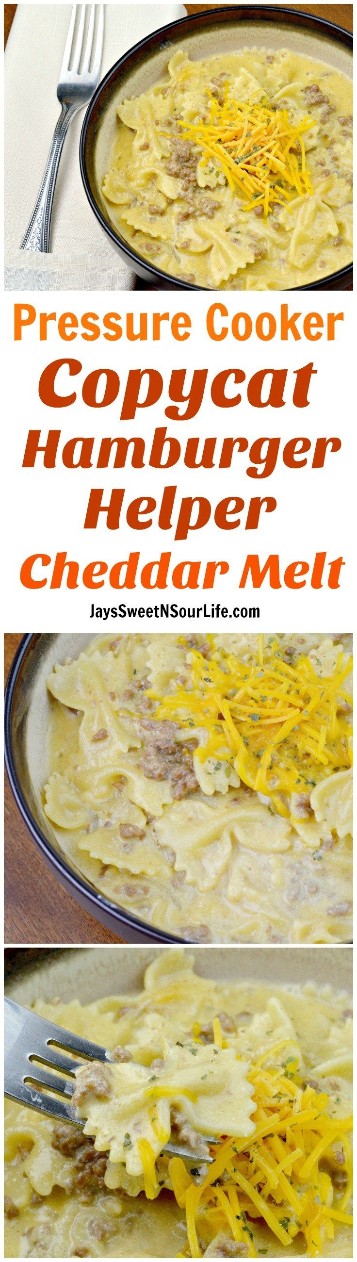 Pressure Cooker Copycat Hamburger Helper Cheddar Melt - Jay's Sweet N Sour Life Blog