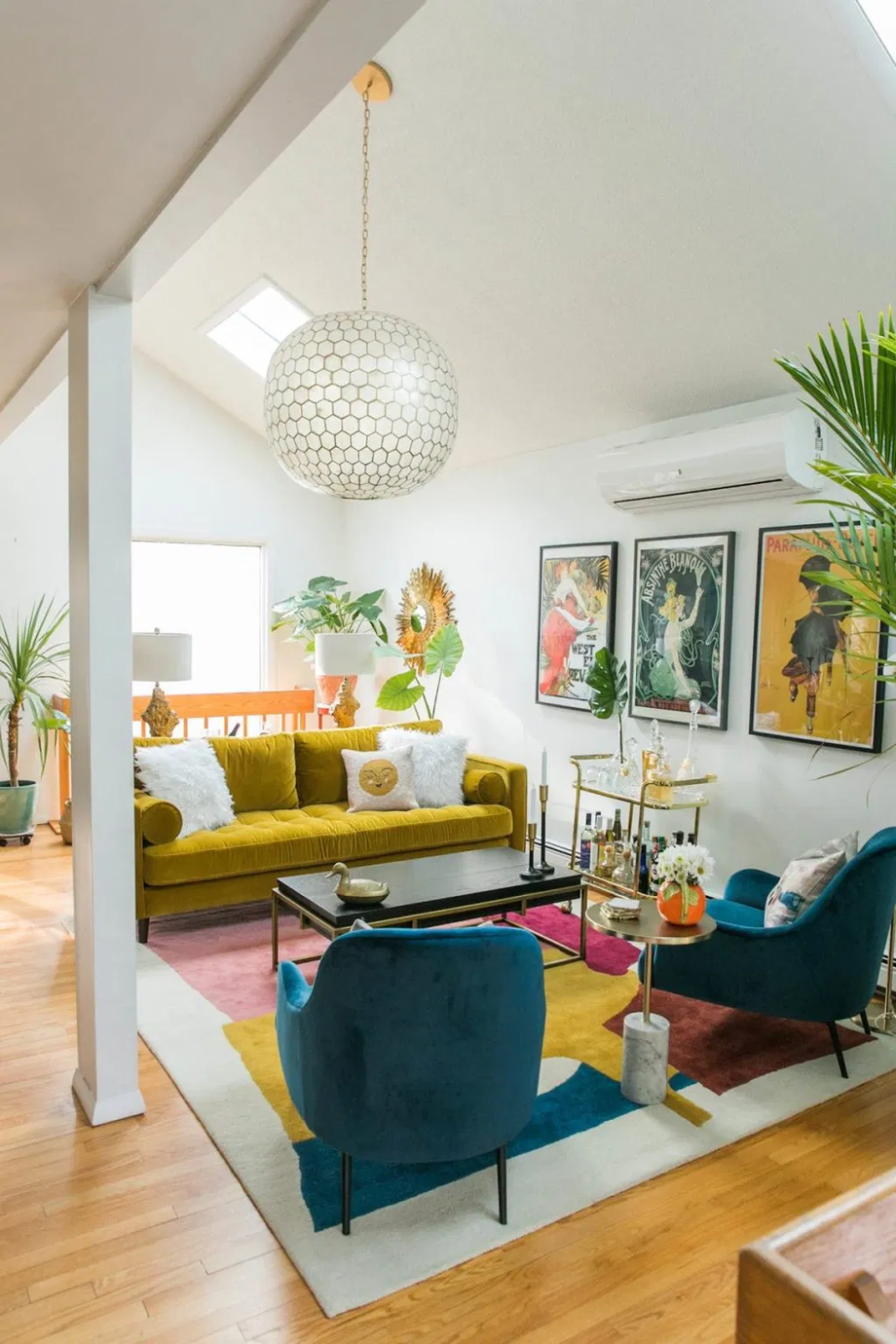 Vibrant Mid-Century Glam Living Room Refresh - THE REVEAL » Jessica Brigham