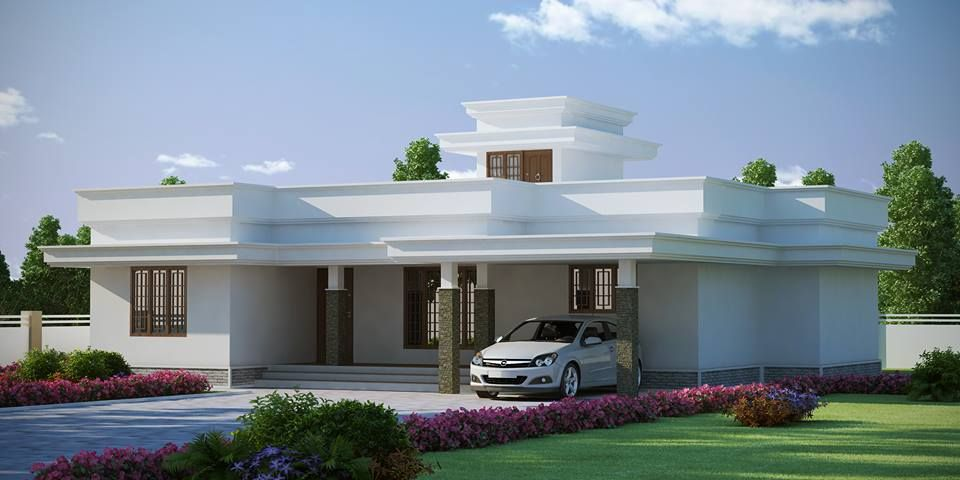 Beautiful low budget kerala house design at 1772 for Small budget house plans in kerala