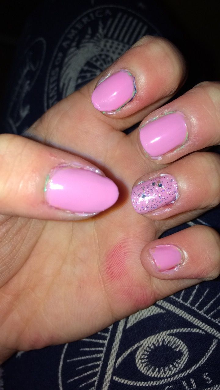 Pink Polish P S Primark Brand Glitter A O C Nail