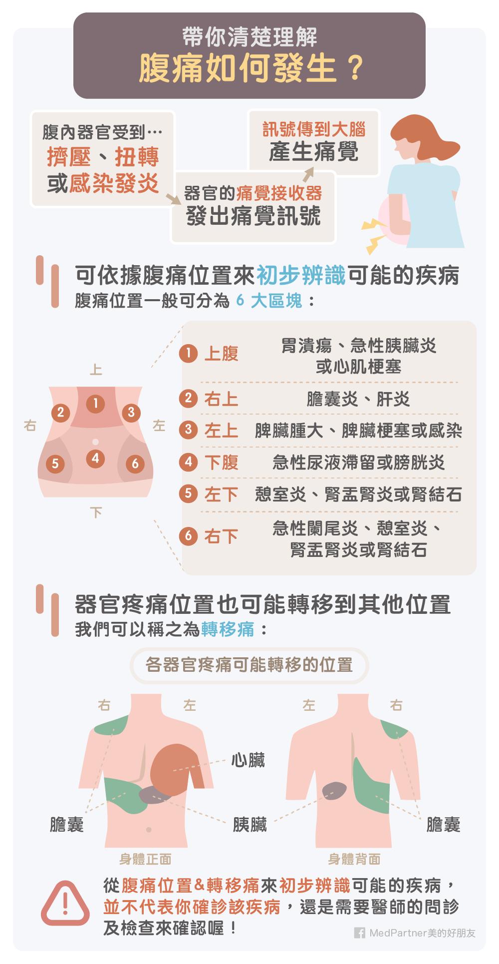 胃痛和腹痛如何區分?醫師教你從6方向分辨腹痛位置和可能疾病 | 消化系統 | 科別 | 元氣網 in 2020 | Health fitness ...