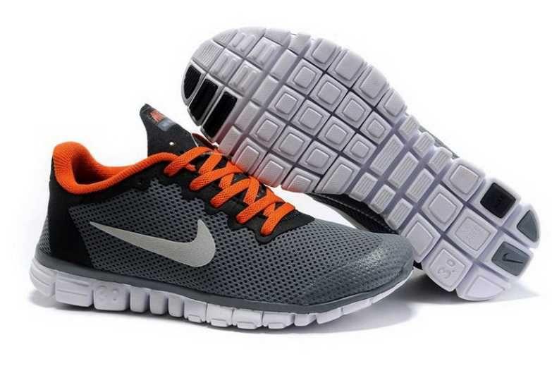 Nike Free 3.0 V2 Homme Chaussures De Course Gris Foncé/Orangé €77.00 €52.00