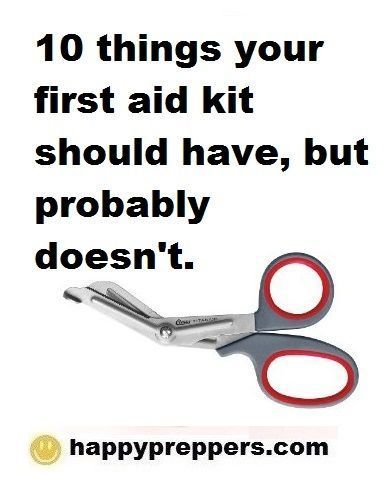 First Aid (ten things to include)