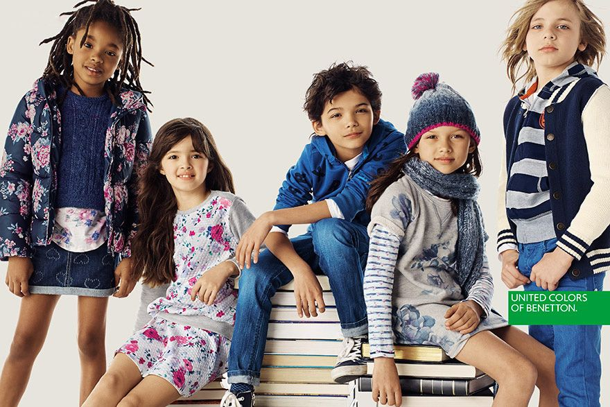 507457fd0678 Kids Campaign Benetton Autumn Winter 2015