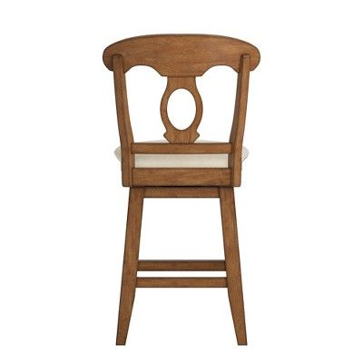 Superb 24 South Hill Napoleon Back Swivel Counter Height Chair Oak Pabps2019 Chair Design Images Pabps2019Com