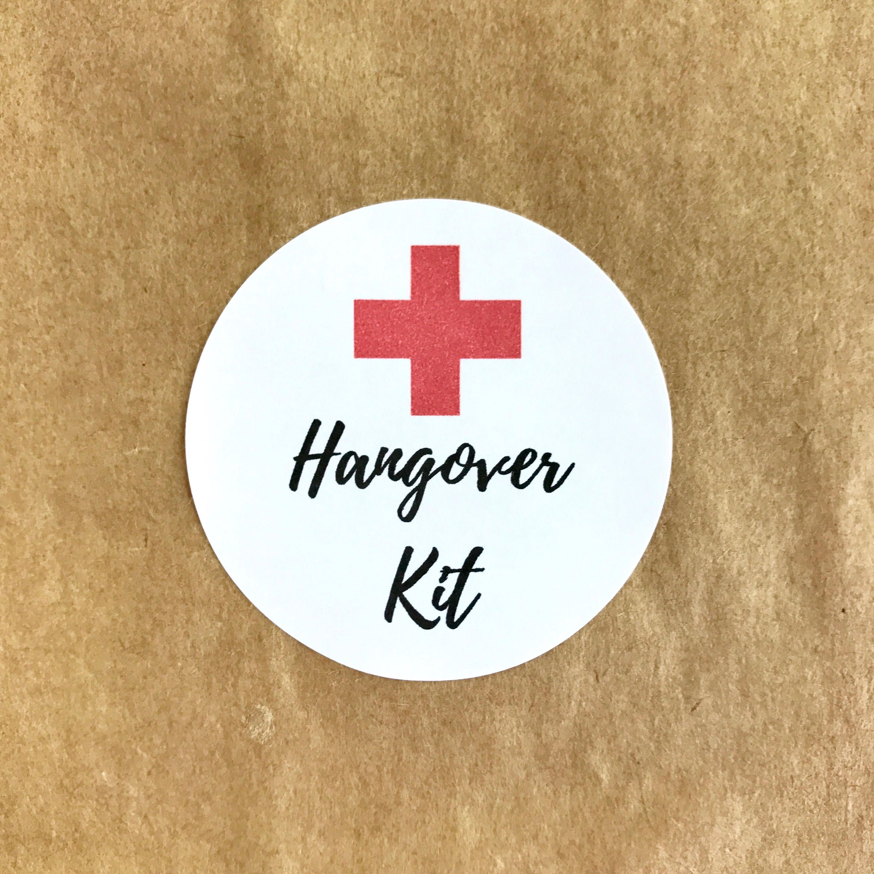 It's just a picture of Bright Hen Party Hangover Kit Labels