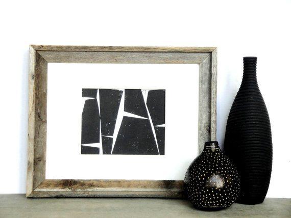 Linolschnitt Drucken  einfache moderne geometrische / von printwork