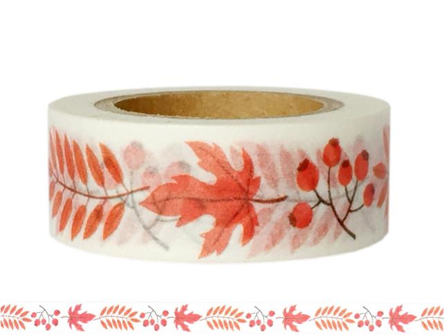 Masking Tape - Washi Tape BLÄTTER orange - ein Designerstück von Fitzi-Floet bei DaWanda