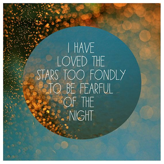 Nature Photography  - Text - Type - Quote -  Fine Art Photograph - Stars - Typography - Light - Blue
