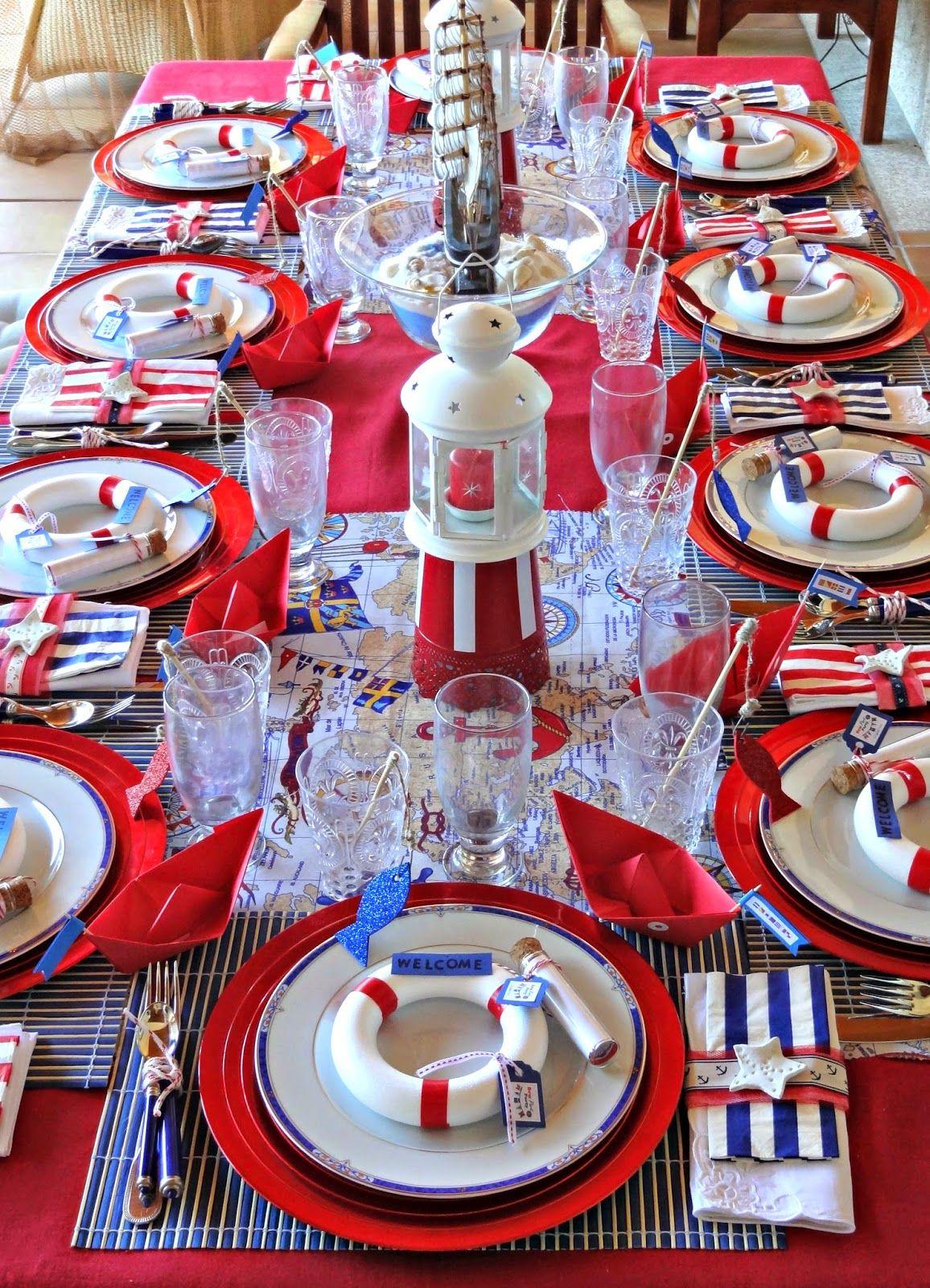 Deco marina preciosa party and events pinterest fiestas cumple y fiesta marinera - Fiesta marinera decoracion ...