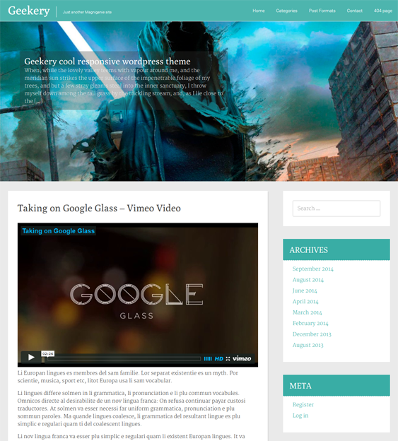 This free flat WordPress theme has unlimited colours, a slider, a ...