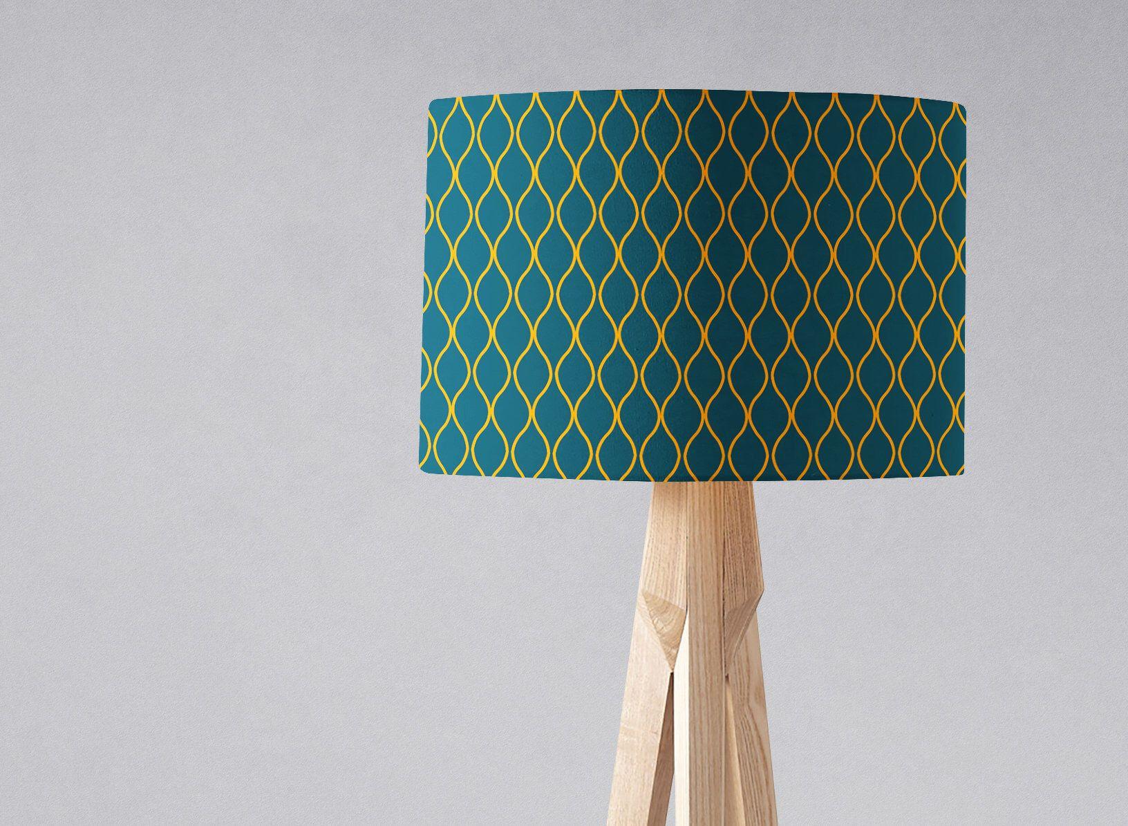 Blue Floor Lamp Blue Light Shade Floor Lampshade Yellow