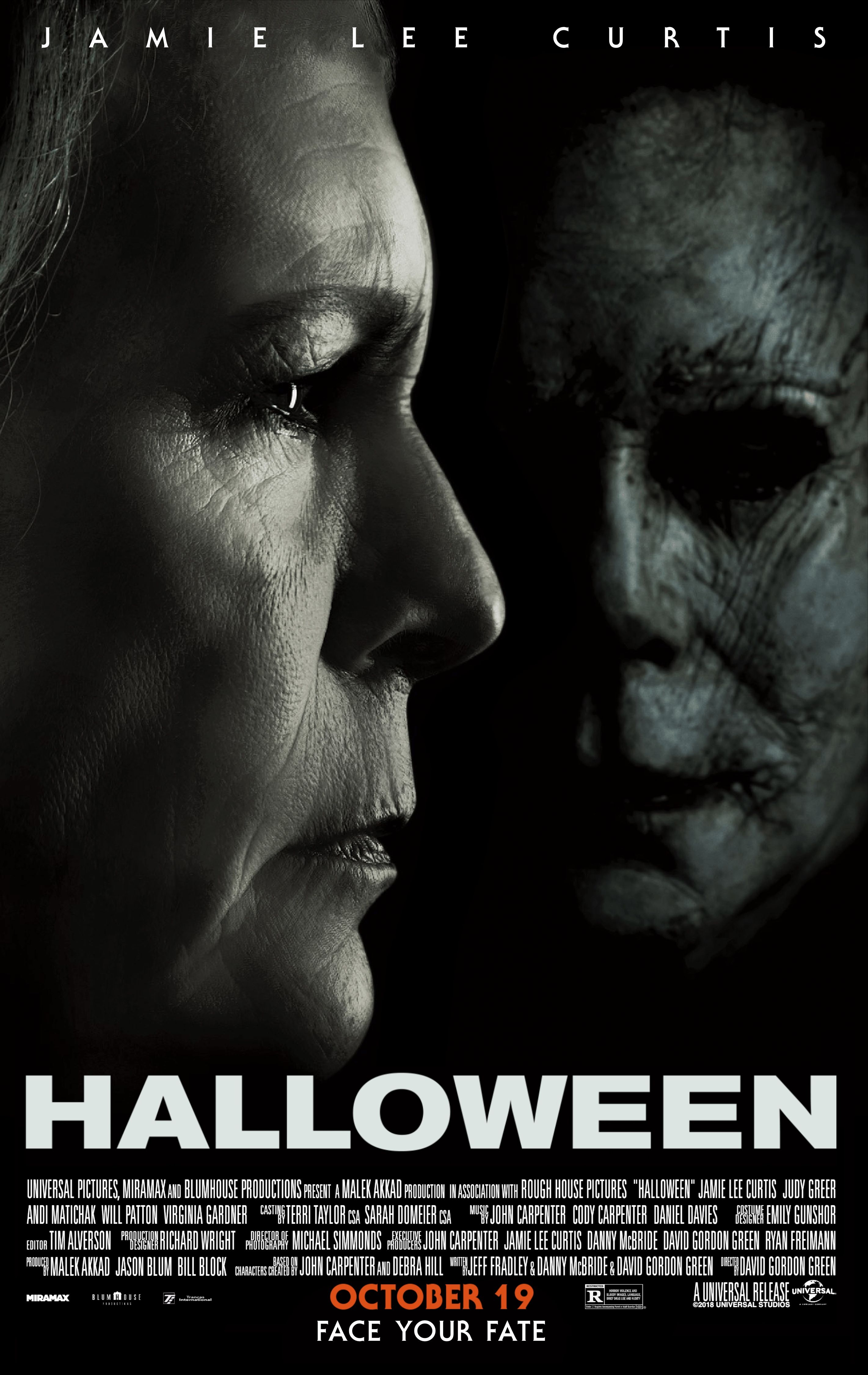 """Halloween"" movie poster, 2018. This remake was highly"