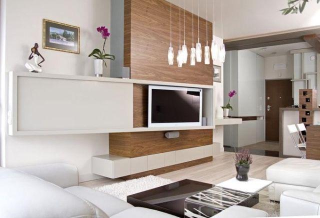 Wohnwand holz weiß  wohnzimmer moderne wohnwand holz weiß fernseher | Interior design ...
