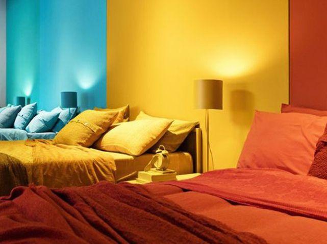 Mur multicolor chambre Couleurs trendy Trendy colors Pinterest - Couleur Actuelle Pour Chambre