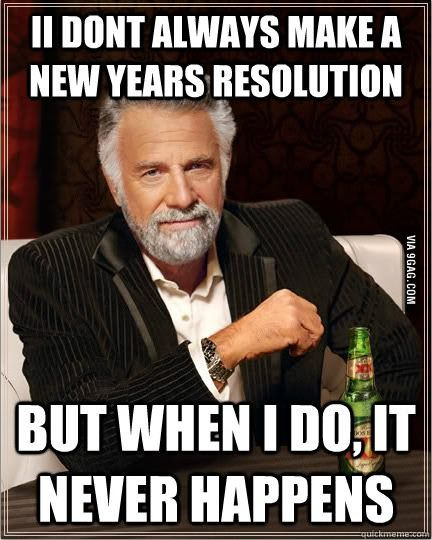 New years resolutions for men