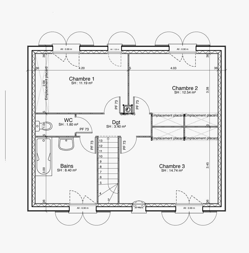 Maison - Lolistar - Maison Lol - 123500 euros - 117 m2 Faire - construire sa maison en ligne gratuitement