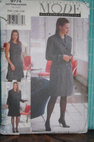 Vogue-Vintage-Plus-Sized-9774-Suit-Wardrobe-Jacket-Dress-Coat-20w-24w