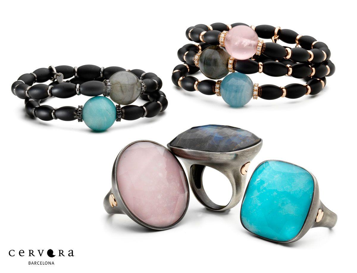 Pulseras y anillos Infinity Black #cerverabcn #jewelery