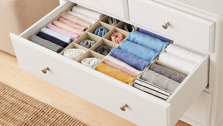 How To Fold Clothes For Organized Dresser Drawers Dresser Drawer