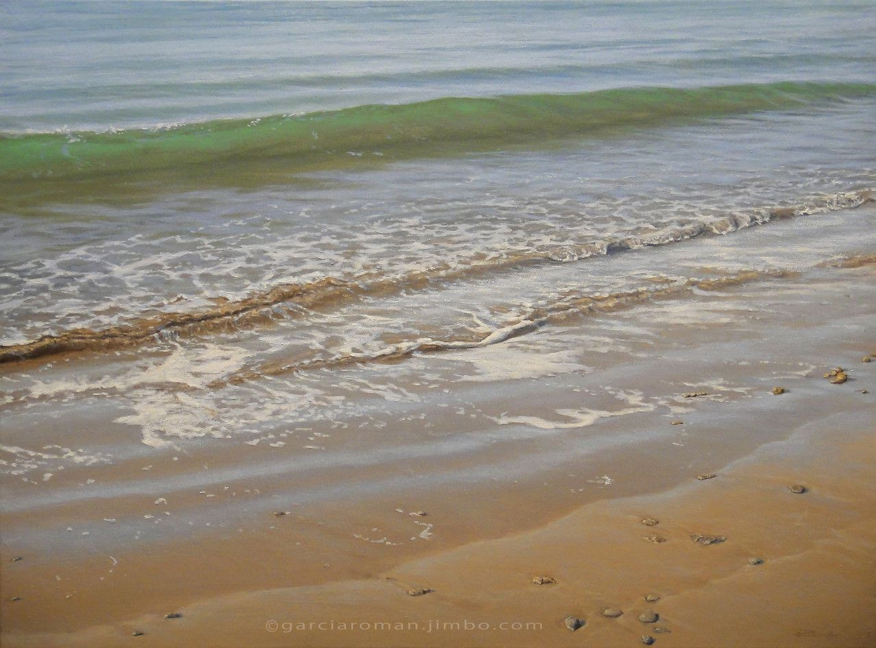 la espuma de la orilla, óleo sobre lienzo, 54x73 cm.