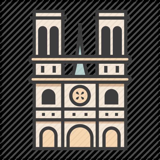 Cathedral Church France Gothic Landmark Notre Dame De Paris Tourism Icon Download On Iconfinder Icon Set All Icon Icon