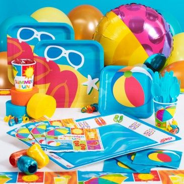 Cool Pool Party Ideas throw an end season pool party Cool Pool Party Ideas There Is An Exclusive Beach Party Supplies From Birthday Express
