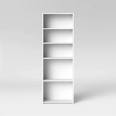 5 Shelf Bookcase White Room Essentials White Bookcase 5 Shelf Bookcase Vertical Bookcases