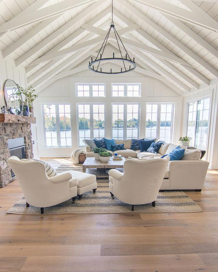 Lake House Living Room Decor: Lake House Living Room Blue And White Decor And New Mirror