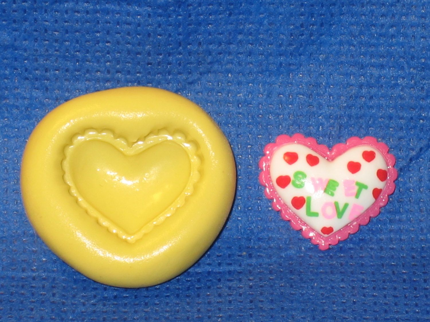 Heart Silicone  Mold 589 For Resin Clay Candy Chocolate Fondant Cakr Pop Dec