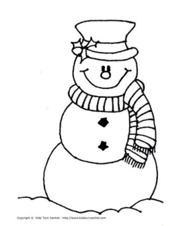 Snowman With Scarf Snowman Coloring Pages Kids Christmas Coloring Pages Christmas Coloring Pages