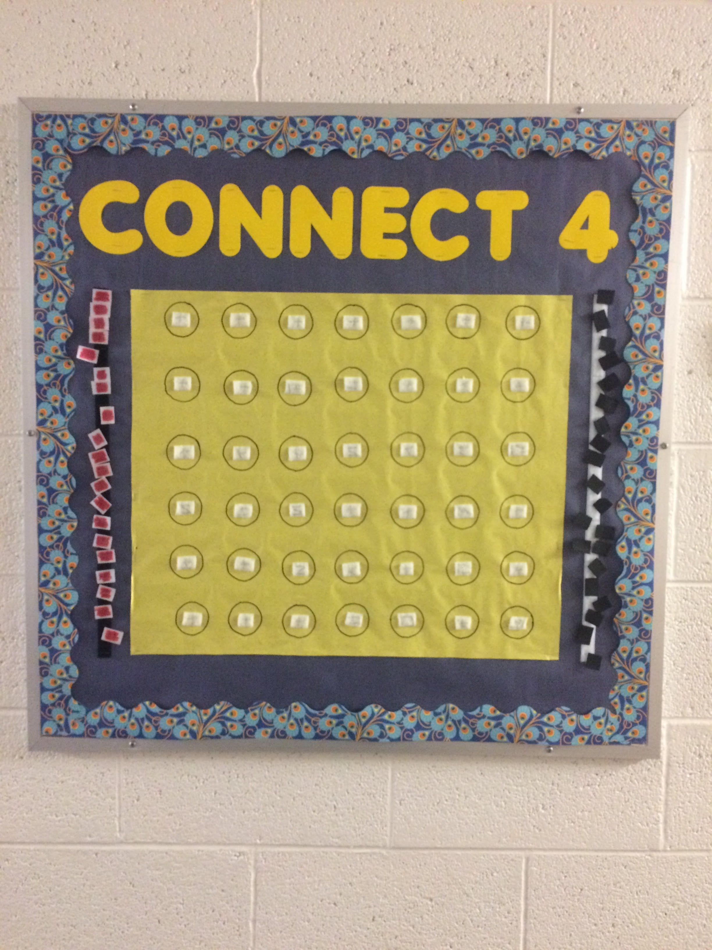 Most current Photos Connect 4 bulletin board for college