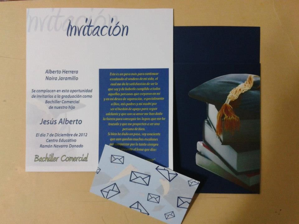 Tarjeta De Invitación Para Graduaciones Invitaciones Para