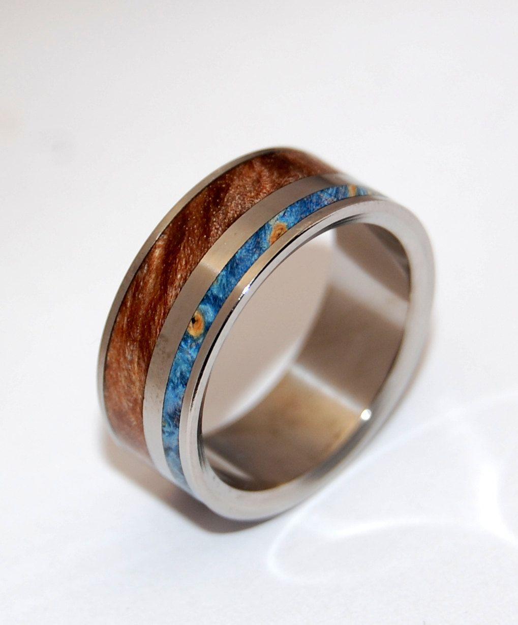 Earth By Water II Wooden Wedding Rings 27500 via Etsy