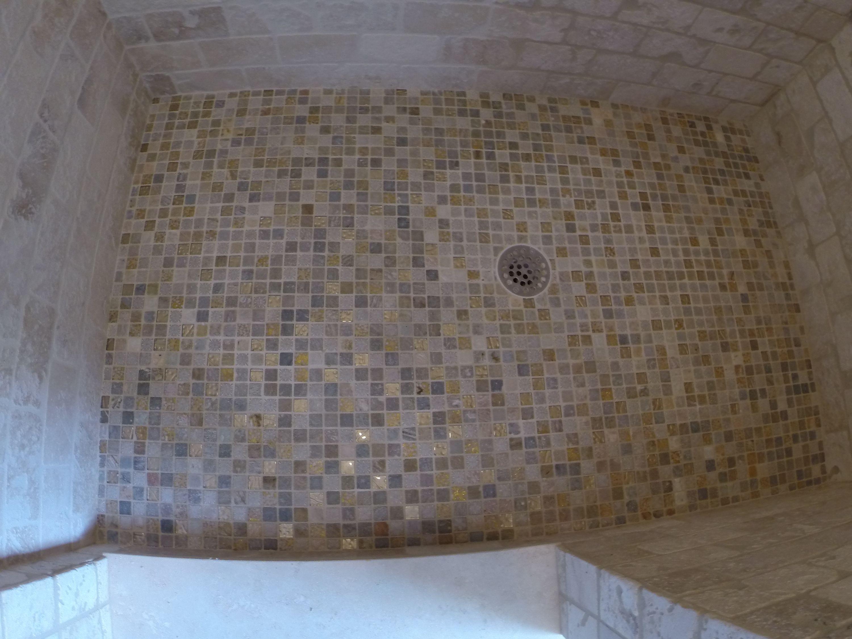 1x1 Mosaic Floor Shower Floor Mosaic Flooring Tile Walk In Shower