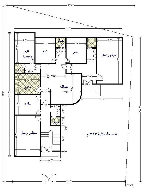 صورة ذات صلة House Floor Design Beautiful House Plans House Construction Plan