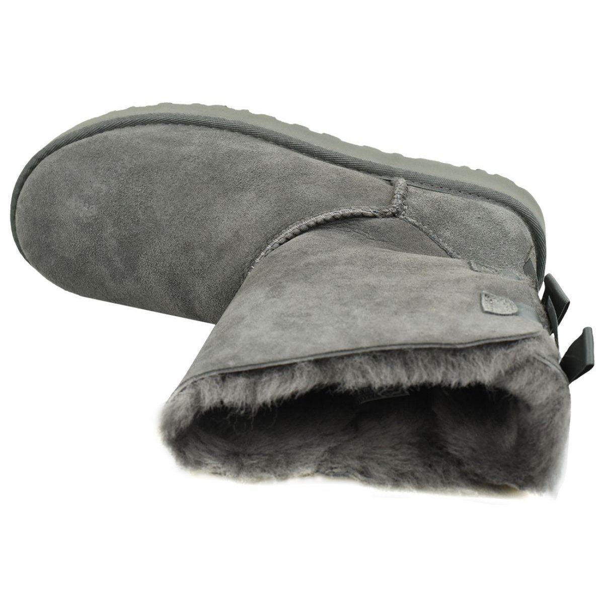 Sniegowce Z Wywijana Cholewka Szare Ugg Boots Boots Slide Slipper