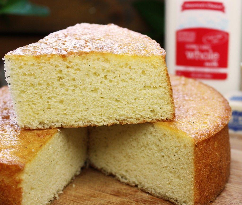 This Yellow Sponge Cake Recipe Is Soooo Moist And Springy